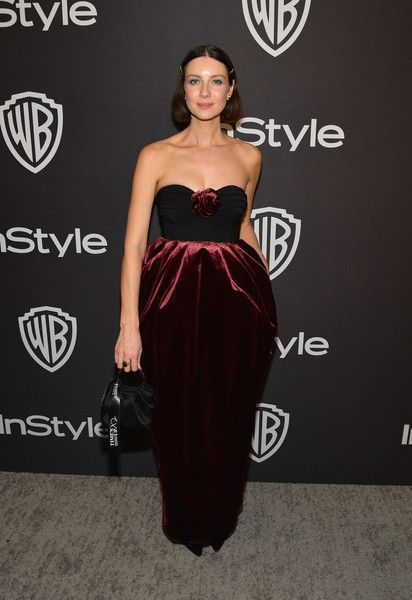 Caitriona Balfe attends the 2019 InStyle and Warner Bros. 76th Annual Golden Globe Awards Post-Party at The Beverly Hilton Hotel.