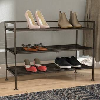 12 Pair Shoe Rack Stackable Shoe Rack Shoe Rack Bench With Shoe Storage