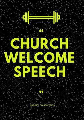 Church Welcome Speech Welcome Words Speech Church
