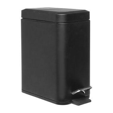 Eko Pedaalemmer 5 Liter.Pedaalemmer Rechthoek 5 Liter Zwart 12 99 Bathroom