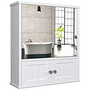 Homecho Spiegelschrank Badschrank Mit Spiegel Bad Hangeschrank Mit