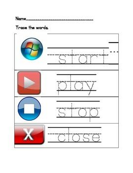Kindergarten Computer Worksheets | Teaching computers ...