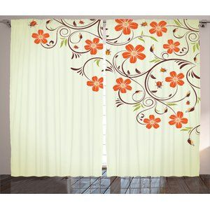 2 Panels Curtain Set Is Printed On 100 Woven Polyester Construction For Maximum Strength Exclusiv Rod Pocket Curtain Panels Rod Pocket Curtains Panel Curtains