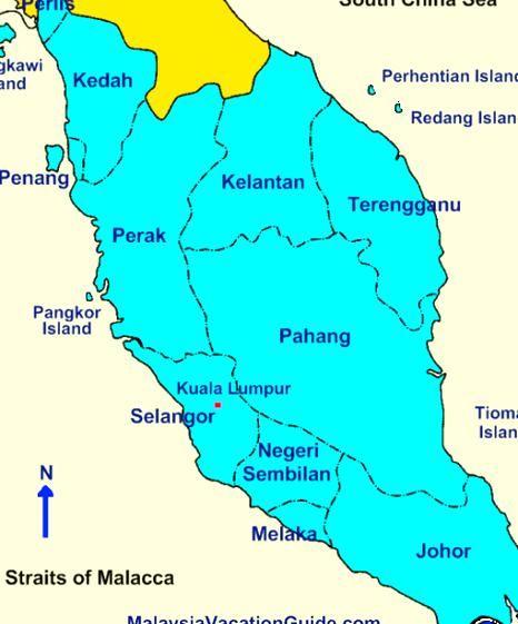 Peninsular Malaysia Map In 2020 Peninsular Malaysia Map Caring