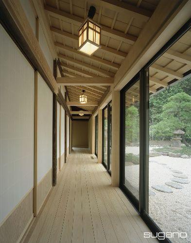 広縁は化粧軒裏で仕上げました 床は桧板貼です 和風建築 日本建築