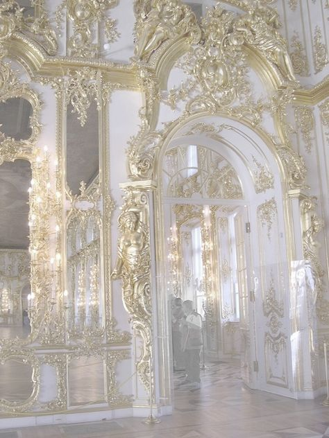 White and gold architecture Classy Aesthetic, Gold Aesthetic, Angel Aesthetic, Aesthetic Vintage, Makeup Aesthetic, Architecture Baroque, Architecture Classique, Beautiful Architecture, Renaissance Architecture