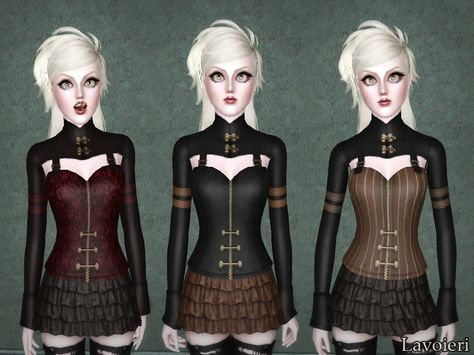 Pandemic Top by Lavoieri Found in TSR Category 'Sims 3 Female Clothing'