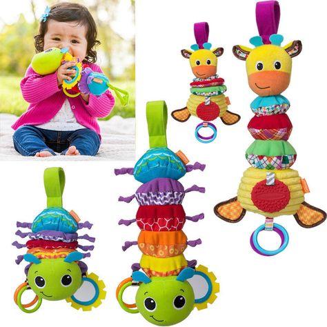 Newborn Baby Kid Animal Rattles Spiral Stroller Bed Cot Crib Hanging Doll Toy