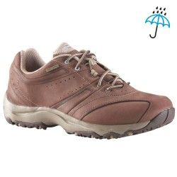 9f3430cd1f070 Chaussures marche sportive femme Nakuru Novadry cuir marron / beige ...
