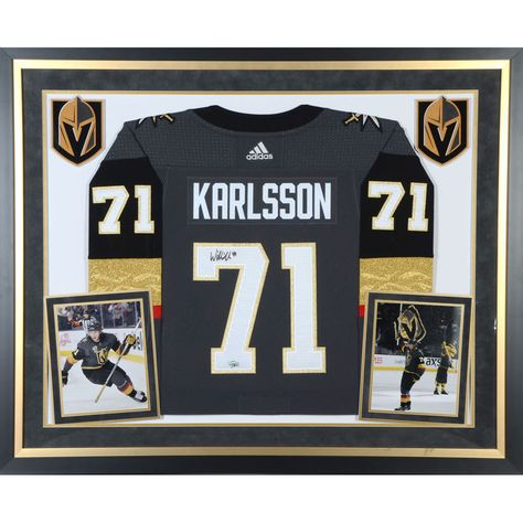 fd810d73e87 William Karlsson Vegas Golden Knights Fanatics Authentic Deluxe Framed Autographed  Black Adidas Authentic Jersey