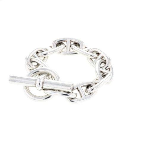 901a2930681 Hermès bracelet chaine d ancre grand modèle en argent