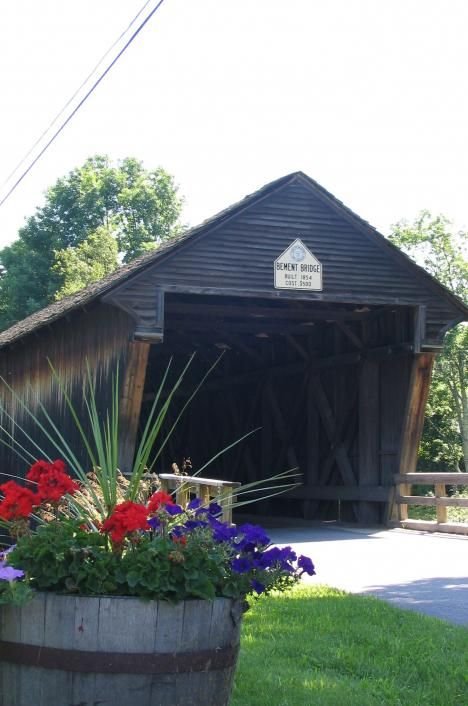 Covered Bridge in Summer, Bradford, NH