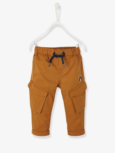 7213a2c9edf8b Pantalon baggy bébé garçon caramel - Une coupe revue et corrigée : le baggy  s'affine et offre toujours le confort indéniable du pur coton, ...
