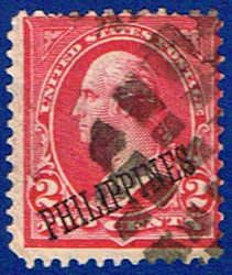 214 US A88 Stamp O/P 2c (1899-1901)-Used Philippines #214