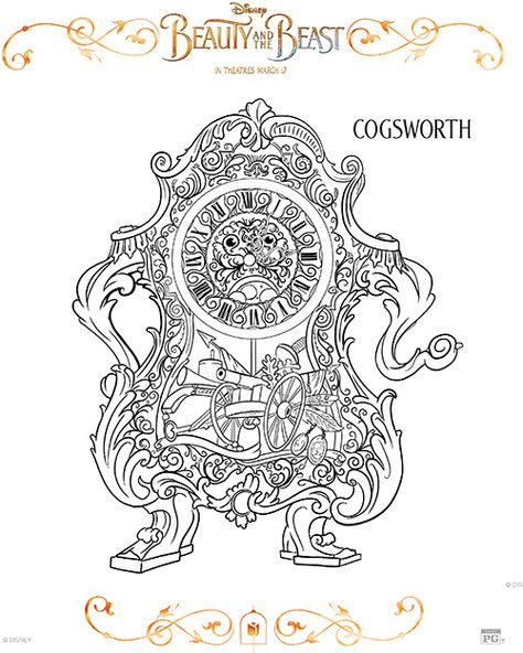 Free Printable Beauty And The Beast Coloring Pages Disney Beauty