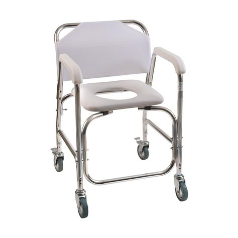 Shower Transport Chair In White 522 1702 1900 Shower Chairs For