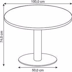Runde Tische In 2020 Bistro Table Hammerbacher Round Table