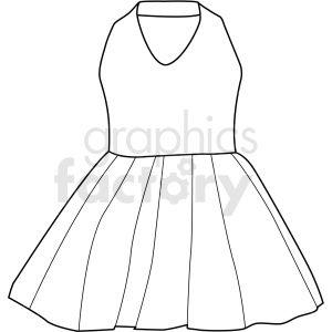 Black White Girls Prom Dress Vector Clipart Prom Girl Dresses Black And White Girl White Girls