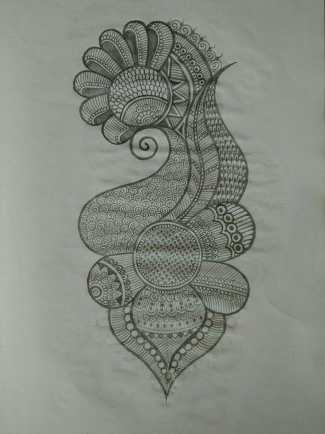 Pencil Henna pattern 03 done by beena Patel