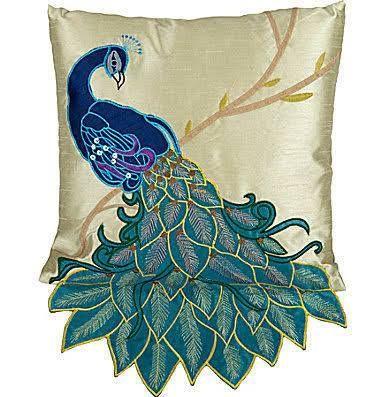 Peacock Pillow Case Sofa Bed Fancy