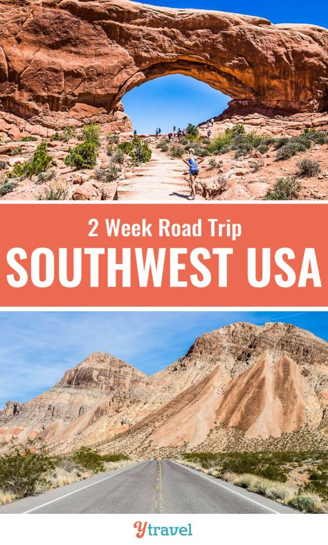 The American Southwest is one of the best destinations for USA road trips. Check out this 2 week itineray through the states of Nevada, Utah and Arizona that take in some of the best USA National Parks. Who loves road trips? Don't miss this. #Roadtrips #USA #travel #vacations #familytravel #traveling #nationalparks