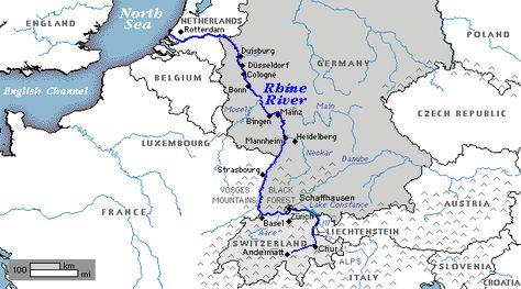 Attila The Hun Map Map Rhine River Awesome Stories Rhine