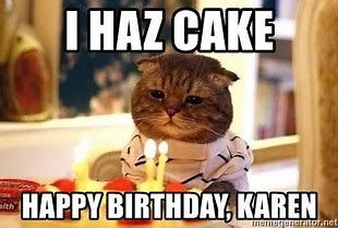 Image Result For Karen Meme Funny Happy Birthday Funny Funny Happy Birthday Meme Happy Birthday Cat