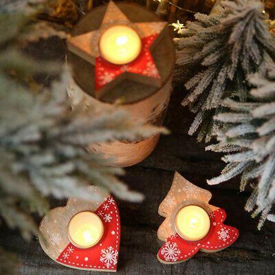 Mp Christmas 2020 Christmas Wooden Candlesticks Holders Xmas Tree Ornaments Table