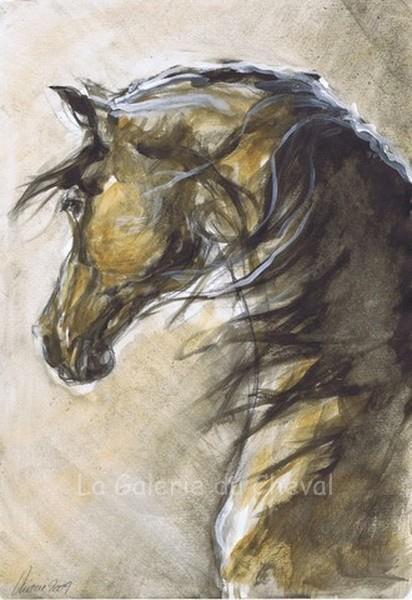 caballo zen by karen bunkowski watercolor x malowanie farbami pinterest