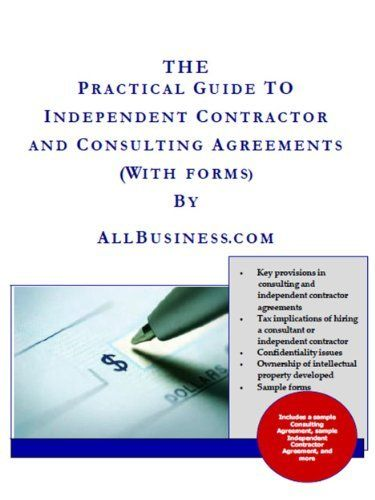 Consultant \ Independent Contractor Agreements by Stephen Fishman - contractor confidentiality agreement