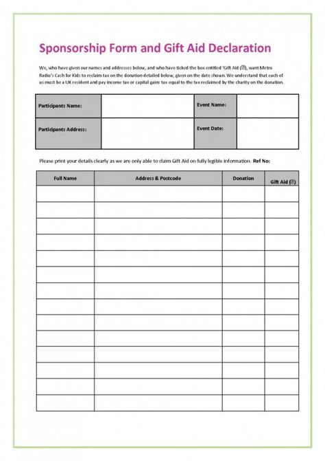017 Fundraiser Form Template Free Ideas Order Fearsome Excel From Blank Sponsor Form Template Fr Sponsorship Form Template Free Proposal Template Template Free
