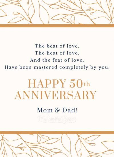 50th Wedding Anniversary Wishes For Parents True Love Words Anniversary Wishes For Parents 50th Wedding Anniversary Wishes Wedding Anniversary Wishes