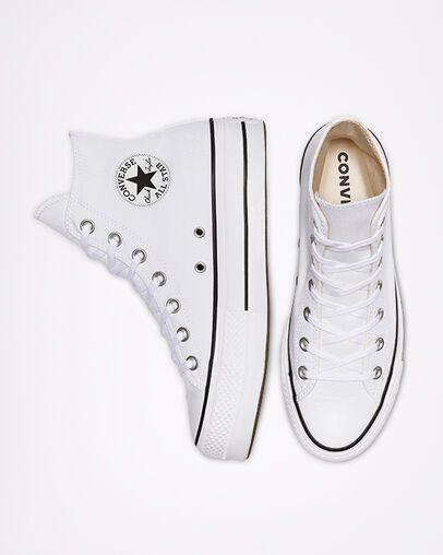 Larry Belmont Tomar un baño jurado  Chuck Taylor All Star Canvas Platform High Top White/Black/White | White  converse shoes, Converse shoes for girls, Womens high top shoes