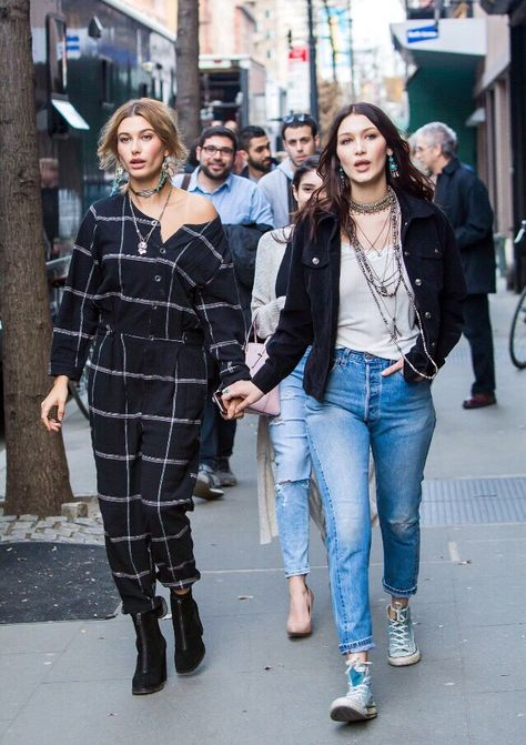 Pin for Later: Bella Hadid and Hailey Baldwin Give Gigi and Kendall a Run For Their Money
