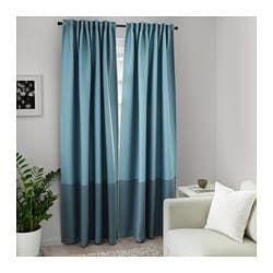 Marjun Room Darkening Curtains 1 Pair Blue Room Darkening Curtains Cool Curtains Blackout Curtains