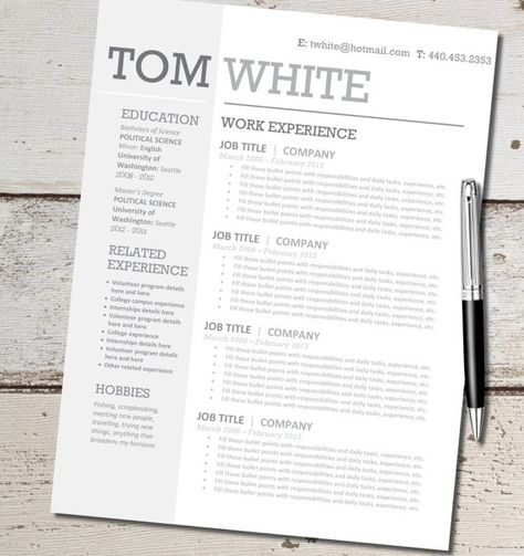 Resume Design Template by VivifyCreative Resumes, Fonts, Admin - political science resume