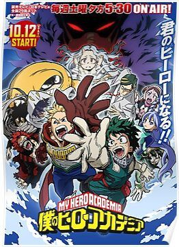 My Hero Academia Season 4 Poster My Hero Hero