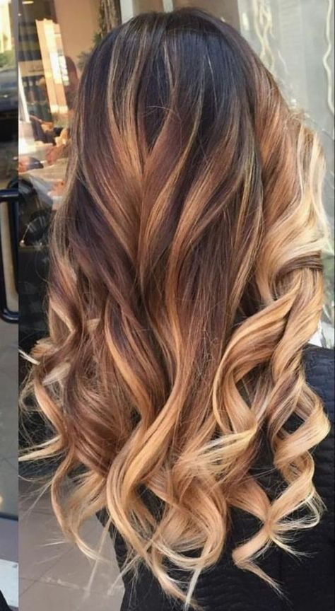 Hair Long Ombre Brown Hairstyling Hairvideo Hairinspiratio