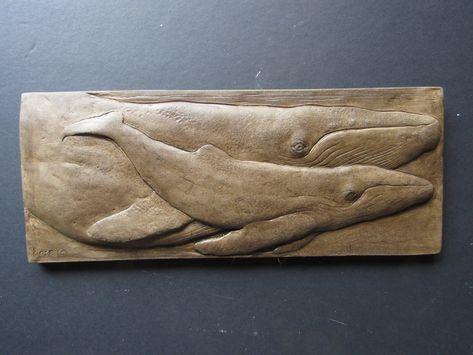 Humpback Whale Pair Concrete Art Tile   Etsy