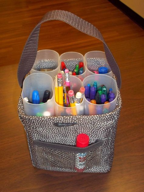 Organizing Crafty Supplies with a Thirty-One Littles Carry All Caddy
