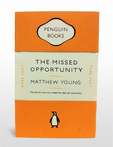 Penguin book cover/job plea