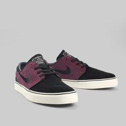 ... Nike SB Zoom Stefan Janoski Suede Trainers Black Black Team Red Ivory Shoes  Shoes Pinterest Suede ...