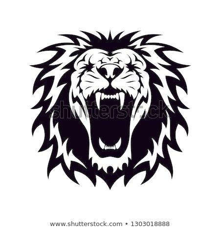 Head Of Lion In Black Isolated White Vector Design Inspiration For Logo Identity Lion Face Image Vector Images