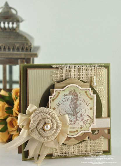 Love all the Burlap and Texture in @Becca Feeken Card!!
