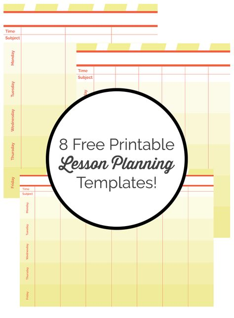 download these free lesson planning templates and more elementary