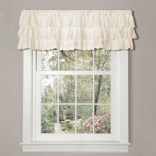 United Curtain Co Vienna Eyelet Window Valance 60 X 12