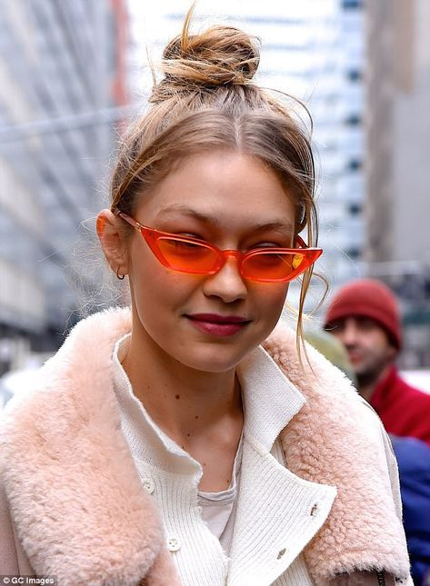 A pop of color:In Manhattan last week she stepped out wearing the Le Skinny Frame in mandarin by Australian accessories designer Poppy Lissiman. The pair retails for $98