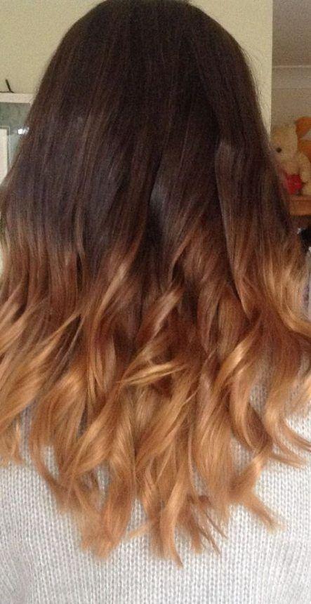 37 Trendy Hair Dyed Ideas Brown Dip Dyed Hair Brown Hair Dye