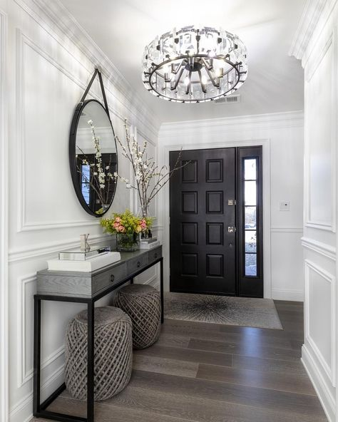 "Interior Design | Home Decor on Instagram: ""If you're considering painting your doors black or any other bold color - make sure to watch the video of this foyer on my personal page…"""