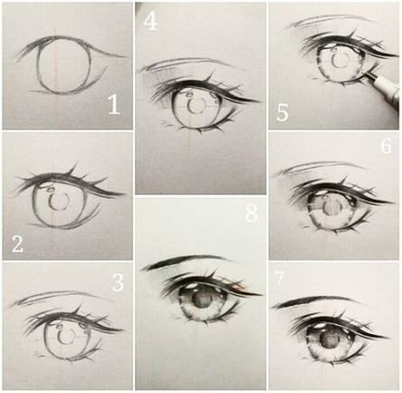 Drawing Tutorial Anime Step By Step Manga Eyes 61 New Ideas